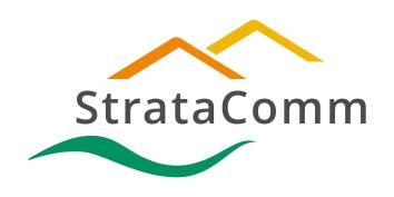 StrataComm logo